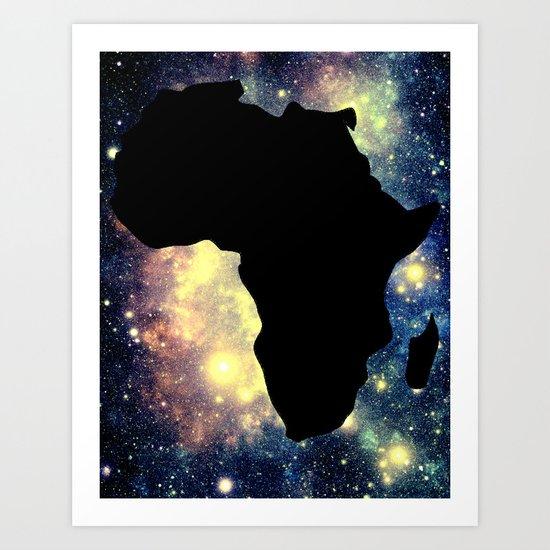 Africa Mauve Teal Galaxy Art Print
