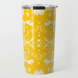 Yellow Oxford Shibori Travel Mug