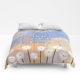 I want adventure in the great wide somewhere - Beauty and the Beast Comforters