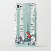 autumn iPhone & iPod Cases featuring The Birches by littleclyde