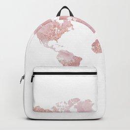 Rose Quartz World Map Backpack