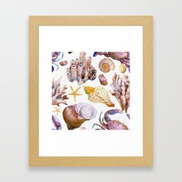 Sea Life Pattern 12 Framed Art Print