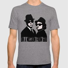 Blues Brothers Mens Fitted Tee Tri-Grey 2X-LARGE
