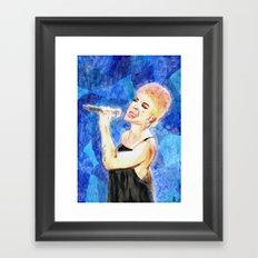 Singing Framed Art Print