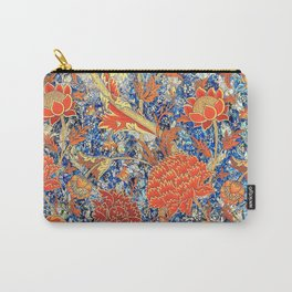 William Morris Wild Orange Floral Pattern Carry-All Pouch