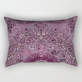 Vintage Merlot Lace Mandala Rectangular Pillow