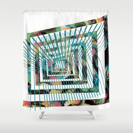 graphic design number 14 by Leslie Harlow Shower Curtain
