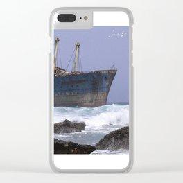 Blue boat colors fashion Jacob's Paris Clear iPhone Case