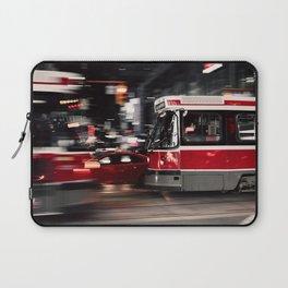 Red buses street Laptop Sleeve