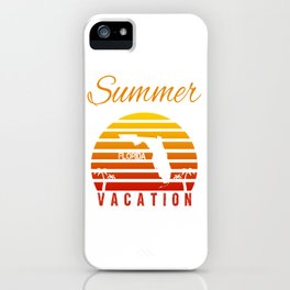 Summer Vacation Florida Miami Beach Holiday Retro Vintage iPhone Case