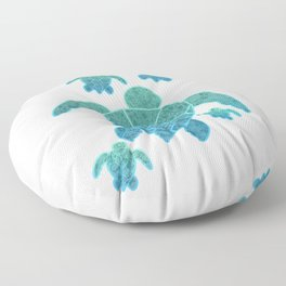 A Family of Sea Turtles Floor Pillow