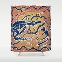 Koockard (Goanna) Shower Curtain