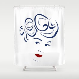 Lucy - Hairography (Lucille Ball) (I Love Lucy) Shower Curtain