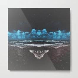 symetrical beach Metal Print
