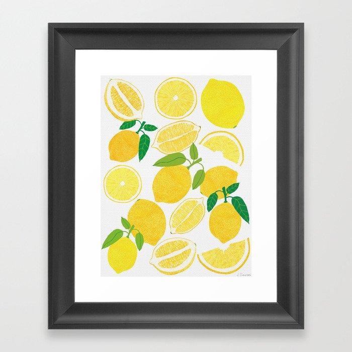 Lemon Harvest Gerahmter Kunstdruck