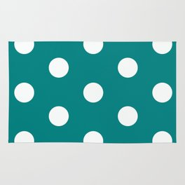 Teal polka dot pattern Rug