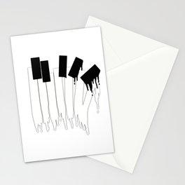 Melting Piano Keys Stationery Cards