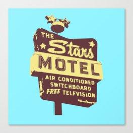 Seeing Stars ... Motel ... (Blue Background) Canvas Print