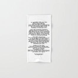 The Four Agreements #minimalist 3 Hand & Bath Towel
