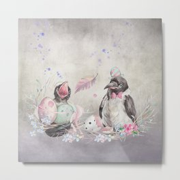 Easter Birdy and Dad Metal Print