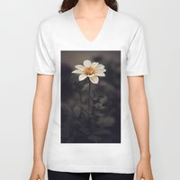 italian V-neck T-shirts featuring Italian Flower by India Pocock