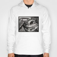 cars Hoodies featuring Dead cars by Bruce Stanfield Photographer