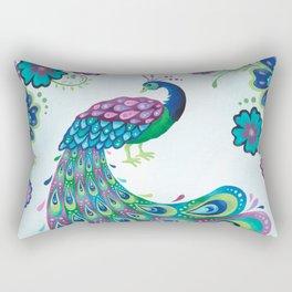 Flaunting It Peacock Rectangular Pillow