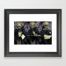 Hear No Evil, See No Evil, Speak No Evil Framed Art Print