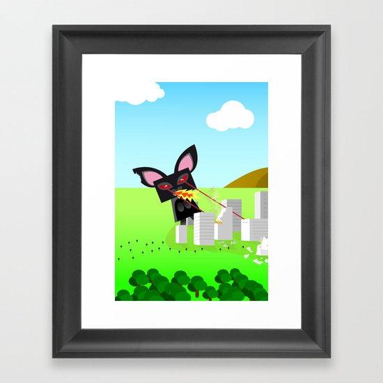 Kitty Destruction Limited Framed Art Print