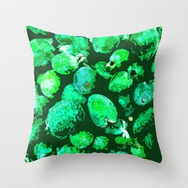 Lots of Acca Sellowiana or Feijao Throw Pillow