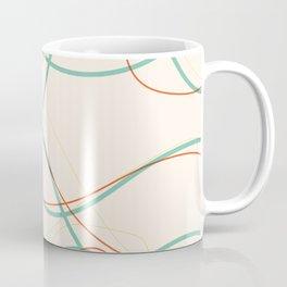 Flowing Lines Contrast Bright Coffee Mug