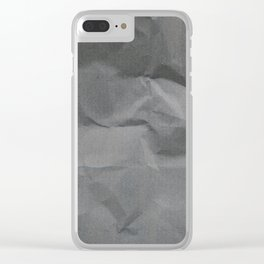 Black Paper Texture Background Clear iPhone Case