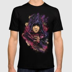 The Face Black MEDIUM Mens Fitted Tee