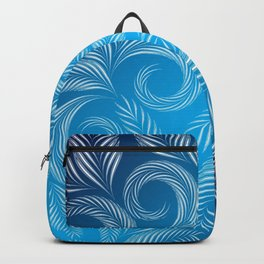 Coold Winter Blue Frosted Window design pattern Backpack
