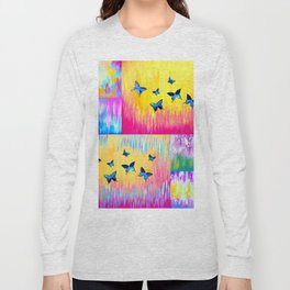Rainbow Butterflies Long Sleeve T-shirt