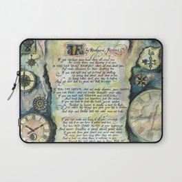 """Calligraphy of the poem """"IF"""" by Rudyard Kipling Laptop Sleeve"""