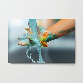 Hand Fish Metal Print