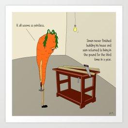 raw carrot. Art Print