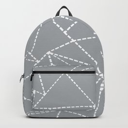 Abstract Dotted Lines Grey Backpack