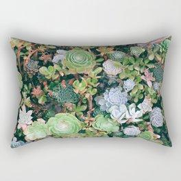 Succulents Green Garden Rectangular Pillow