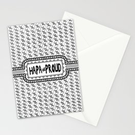 Hapa & Proud - Multicultural - Happa - Eurasian - Black & White Stationery Cards