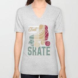 Just Skate | Retro Roller Skating Unisex V-Neck
