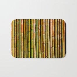 Bamboo fence, texture Bath Mat
