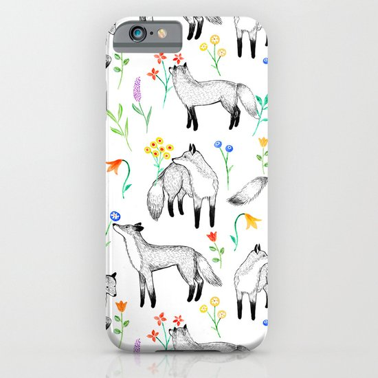Fox Floral iPhone & iPod Case