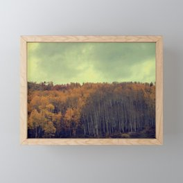 A Fall Aspen Drive Framed Mini Art Print