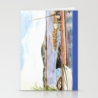 fishing Stationery Cards featuring Fishing by VargaMari