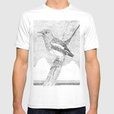 Tweeting a Message White MEDIUM Mens Fitted Tee