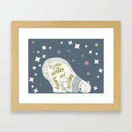 Holiday Bear Framed Art Print