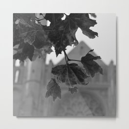 Grace Cathedral Summer Leaves Metal Print