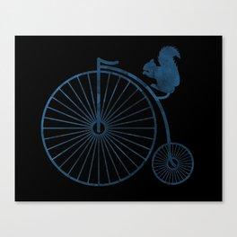 Squirrel on a high wheel Canvas Print